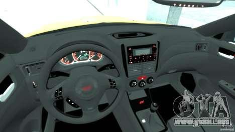 Subaru Impreza WRX STi 2011 Subaru World Rally para GTA 4 visión correcta