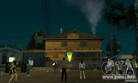 Proyecto x en Grove Street para GTA San Andreas sucesivamente de pantalla
