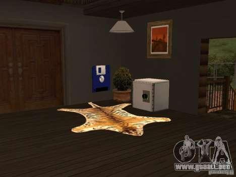 Nueva villa de CJ para GTA San Andreas sucesivamente de pantalla