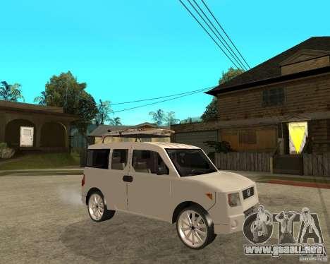 Honda Element para la visión correcta GTA San Andreas