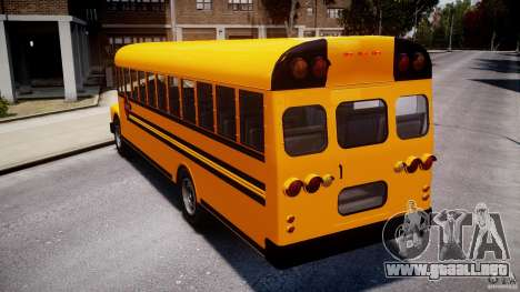 School Bus [Beta] para GTA 4 Vista posterior izquierda