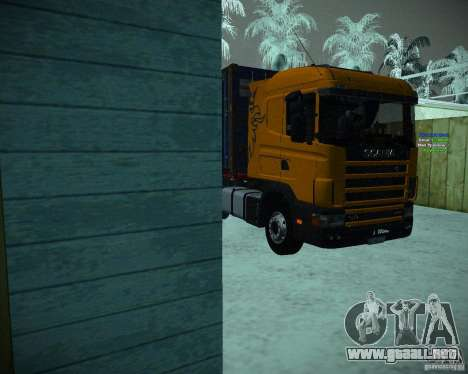 Scania 164L para GTA San Andreas left