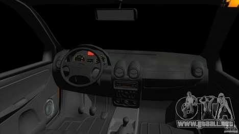 Lada Granta para GTA Vice City vista posterior