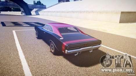 Dodge Charger RT 1969 v1.0 para GTA 4 Vista posterior izquierda