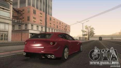 Ferrari FF 2011 V1.0 para vista inferior GTA San Andreas