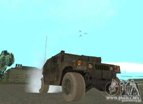 Hummer Cav 033 para GTA San Andreas vista hacia atrás