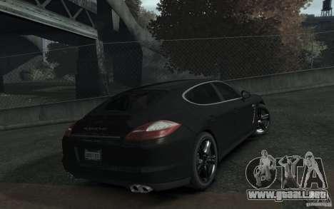 Porsche Panamera Turbo para GTA 4 vista hacia atrás