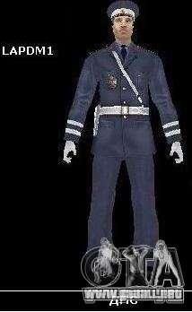 Skin reemplaza PD, el ejército y una piel del FB para GTA San Andreas segunda pantalla