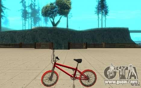 Zeros BMX RED tires para GTA San Andreas left