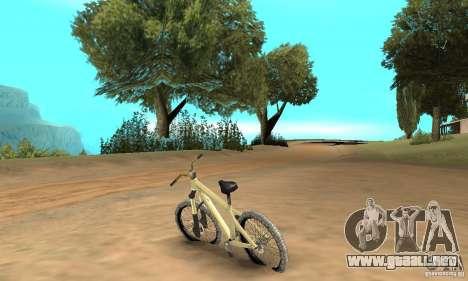 Specialized P.3 Mountain Bike v 0.8 para GTA San Andreas vista posterior izquierda