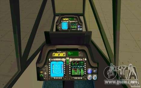 Sikorsky RAH-66 Comanche default grey para visión interna GTA San Andreas