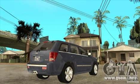 Jeep Grand Cherokee SRT8 v2.0 para la visión correcta GTA San Andreas