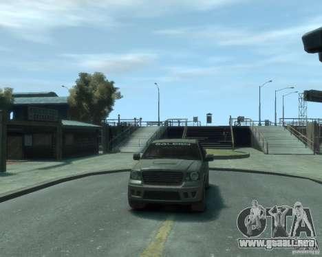 Saleen s331 para GTA 4 vista hacia atrás