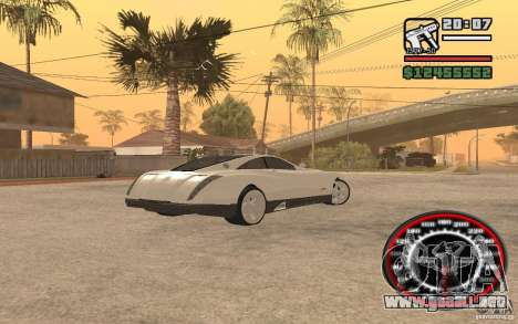 Maybach Exelero para GTA San Andreas vista posterior izquierda