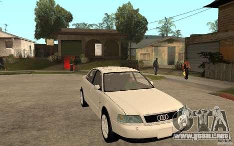 Audi A8 4.8L 2000 para GTA San Andreas vista hacia atrás