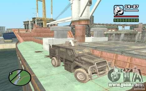 Camión militar para GTA San Andreas