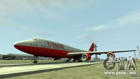Fly Kingfisher Airplanes witout logo para GTA 4