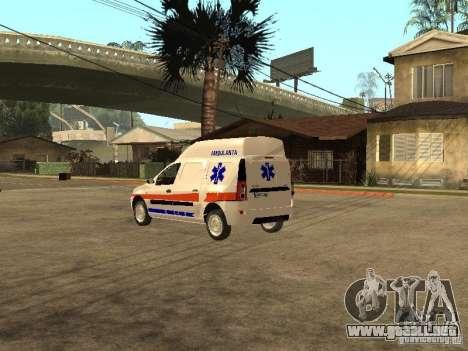 Dacia Logan Ambulanta para GTA San Andreas vista posterior izquierda