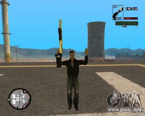 Shotgun Gold para GTA San Andreas segunda pantalla