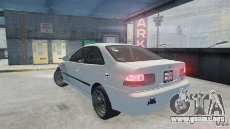 Honda Civic Si 1999 JDM [EPM] para GTA 4 left