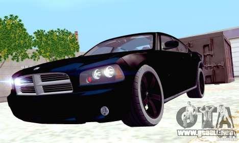 Dodge Charger Fast Five para la vista superior GTA San Andreas