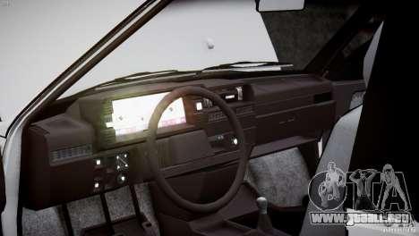 VAZ 21083i para GTA 4 vista desde abajo