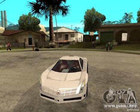 Cadillac Cien para GTA San Andreas vista hacia atrás