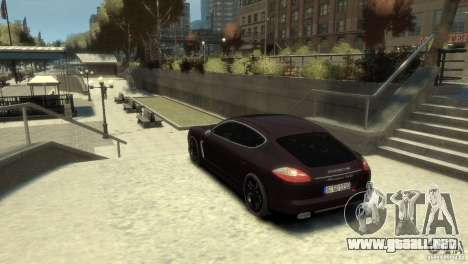 PORSCHE Panamera Turbo para GTA 4 left