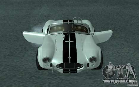 Shelby Cobra 427 para la visión correcta GTA San Andreas