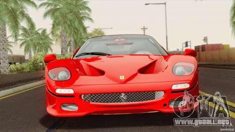 Ferrari F50 v1.0.0 Road Version para la visión correcta GTA San Andreas