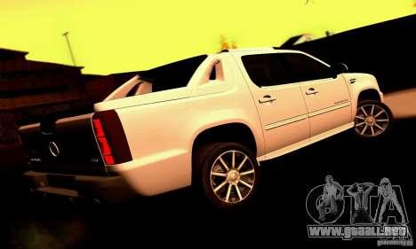 Cadillac Escalade Ext para GTA San Andreas vista posterior izquierda