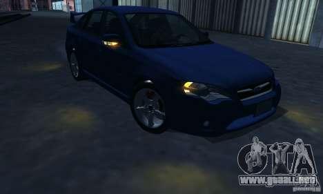 Subaru Legacy 2004 v1.0 para vista inferior GTA San Andreas