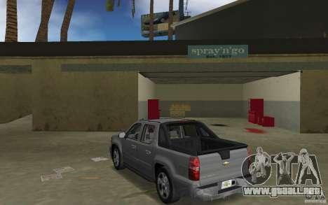 Chevrolet Avalanche 2007 para GTA Vice City vista lateral izquierdo