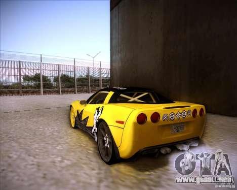 Chevrolet Corvette C6 super promotion para GTA San Andreas left