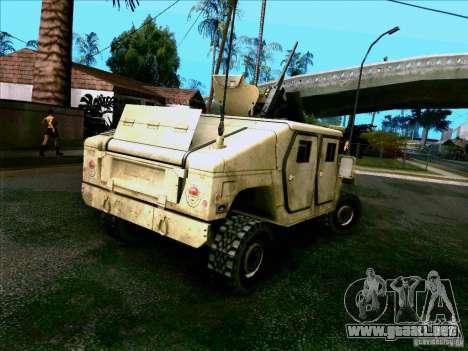Hummer H1 Irak para GTA San Andreas vista posterior izquierda