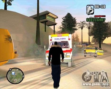 Ambulancia para GTA San Andreas tercera pantalla