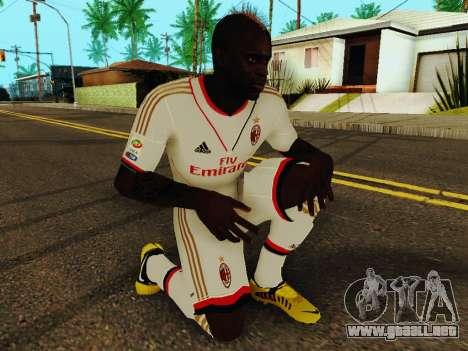 Mario Balotelli v2 para GTA San Andreas quinta pantalla