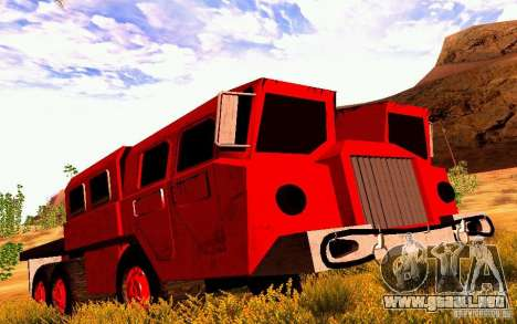 Versión estrecha Civil MAZ-7310 para GTA San Andreas left
