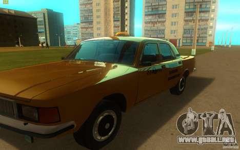 Taxi 3102 Volga GAZ para GTA San Andreas left