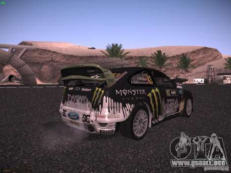 Ford Focus RS Monster Energy para GTA San Andreas vista posterior izquierda