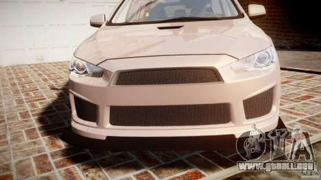 Mitsubishi Lancer Evolution X para GTA 4 vista superior