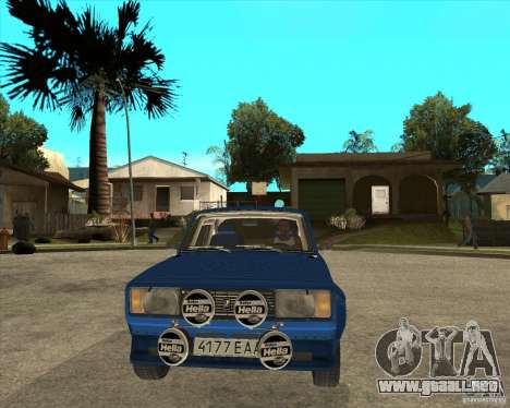 Rally de VFTS LADA 2105 para GTA San Andreas vista hacia atrás