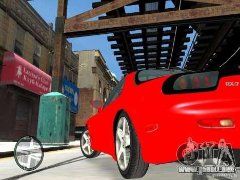Mazda RX-7 Type RZ para GTA 4 vista hacia atrás