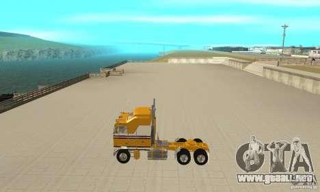 Kenworth K100C Aerodyne para GTA San Andreas left