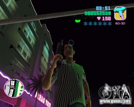 Tommy piel para GTA Vice City sucesivamente de pantalla