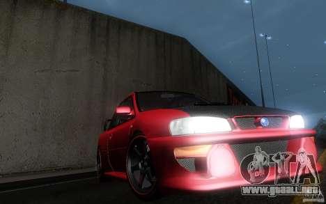 Subaru Impreza 22B para vista lateral GTA San Andreas