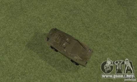 BRDM-1 piel 4 para GTA San Andreas vista hacia atrás