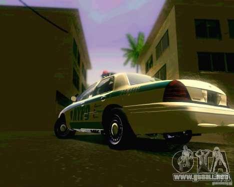 Ford Crown Victoria 2003 NYPD police para la visión correcta GTA San Andreas
