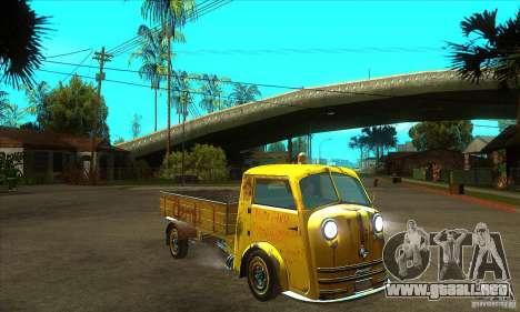 Tempo Matador 1952 Bus Barn version 1.1 para GTA San Andreas vista hacia atrás