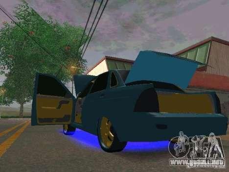 LADA Priora oro 2170 Edition para GTA San Andreas vista posterior izquierda
